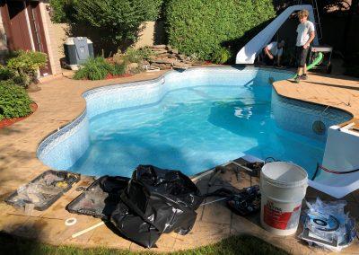 Vidage de la piscine